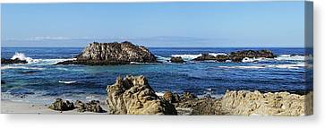 Canvas Print featuring the photograph Pacific Ocean Panoramic by Kathy Churchman