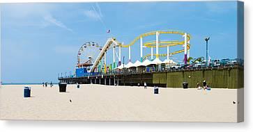Pacific Park, Santa Monica Pier, Santa Canvas Print by Panoramic Images