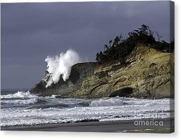 Pacific Power On The Cape Canvas Print by Tim Moore