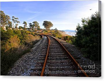 Pacific Rail Canvas Print by Shannan Peters