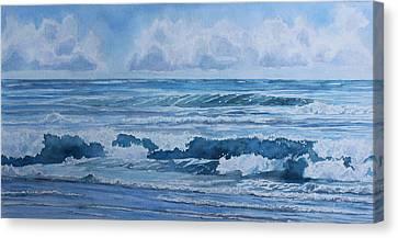 Pacific Rhythms  Canvas Print by Jenny Armitage
