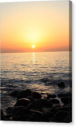 Pacific Sunrise Canvas Print by Ashley Balkan