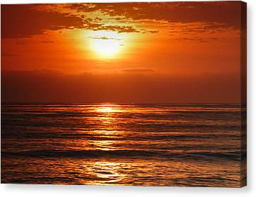 Canvas Print featuring the photograph Pacific Sunset @ Point Loma by Photography  By Sai