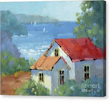 Pacific View Cottage Canvas Print
