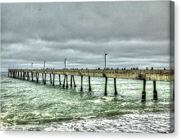 Pacifica Municipal Fishing Pier 7 Canvas Print