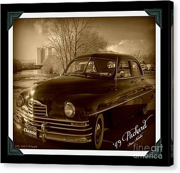 Packard Classic At Truckee River Canvas Print by Bobbee Rickard