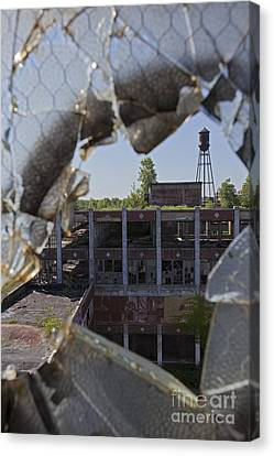 Canvas Print featuring the photograph Packard Factory by Jim West
