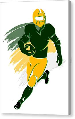 Nfl Canvas Print - Packers Shadow Player2 by Joe Hamilton