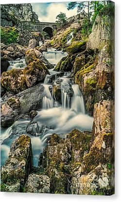 Packhorse Waterfall Canvas Print by Adrian Evans