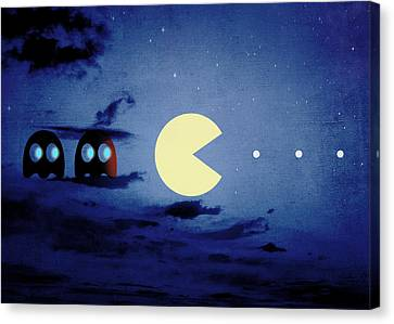 Pacman Night-scape Canvas Print by Filippo B