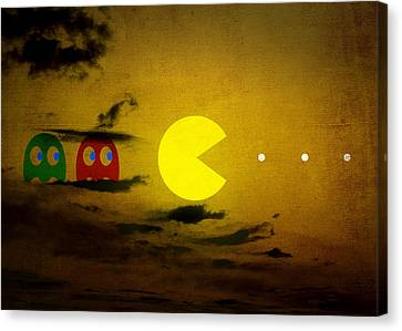 Pacman-scape Canvas Print by Filippo B