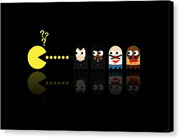 Pacman Pulp Fiction Canvas Print by NicoWriter