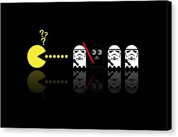 Pacman Star Wars - 1 Canvas Print by NicoWriter