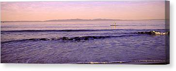 Paddle-boarder In Sea, Santa Rosa Canvas Print