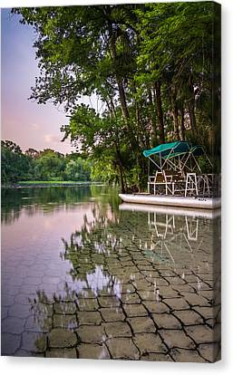 Paddle Boat Siesta Canvas Print by Clay Townsend