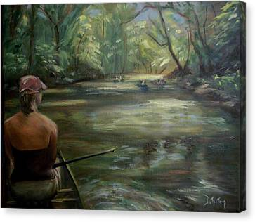Canvas Print featuring the painting Paddle Break by Donna Tuten