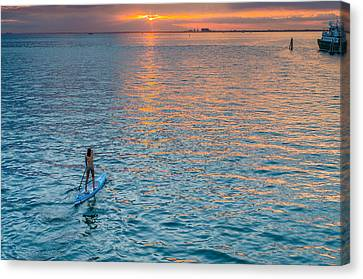 Paddle Girl Canvas Print by Jonathan Gewirtz