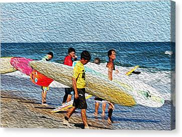 Paddle Out  Canvas Print by William Love