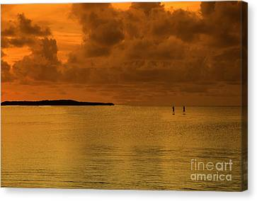 Paddleboarding Canvas Print by Bruce Bain