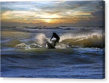 Topsail Island Canvas Print - Natutical Jesus by Betsy Knapp