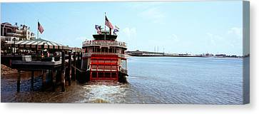 Paddleboat Natchez In A River Canvas Print by Panoramic Images