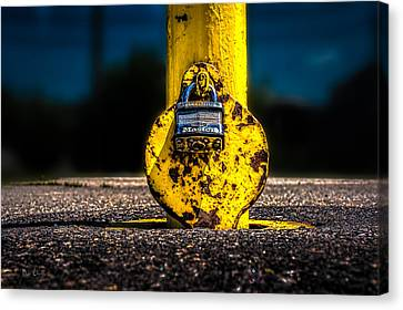 Padlock Number Two Canvas Print by Bob Orsillo