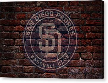 Centerfield Canvas Print - Padres Baseball Graffiti On Brick  by Movie Poster Prints