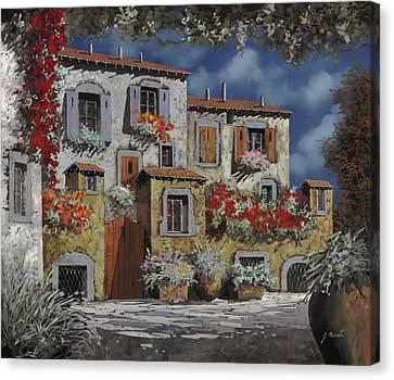 Paesaggio Al Chiar Di Luna Canvas Print by Guido Borelli