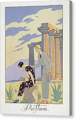 Paestum Canvas Print by Georges Barbier