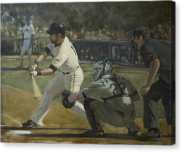 Pagan Leadoff Triple Canvas Print by Darren Kerr