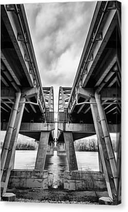 Page Bridge Geometry Canvas Print by Bill Tiepelman