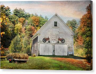 Maine Barns Canvas Print - Page Farm by Lori Deiter