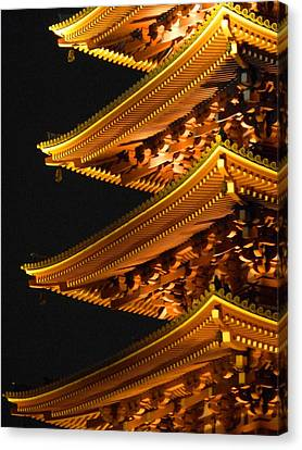 Canvas Print featuring the photograph Pagoda by Julia Ivanovna Willhite