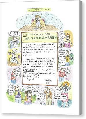 'paid Advertisement' Canvas Print by Roz Chast