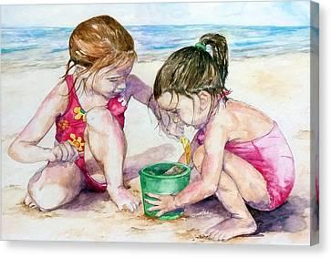 The Green Bucket Canvas Print by Brian Blackman