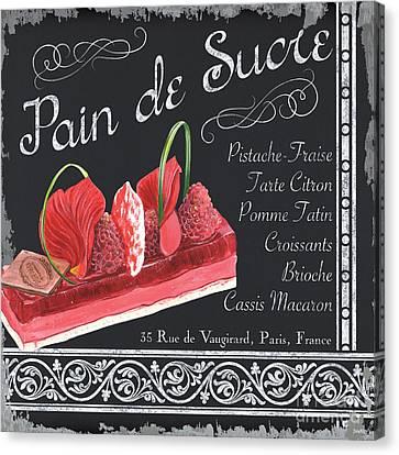 Patisserie Canvas Print - Pain De Sucre by Debbie DeWitt
