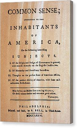 Paine: Common Sense, 1776 Canvas Print by Granger