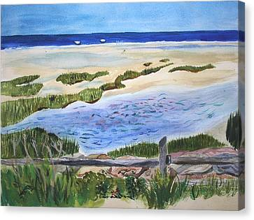 Paines Creeek Is A Wonderful Beach On Cape Cod Bay In The Town Of Brewster Ma. Canvas Print by Donna Walsh