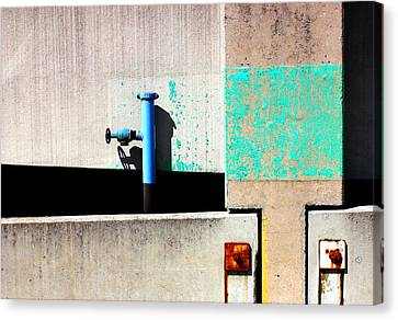 Paint And Pipe Abstract Industrial Decay Series No 003 Canvas Print by Design Turnpike