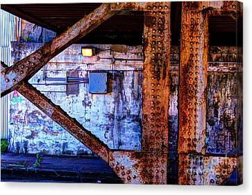 Paint And Rust 28 Canvas Print by Jim Wright
