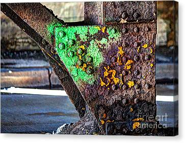 Paint And Rust 32 Canvas Print by Jim Wright