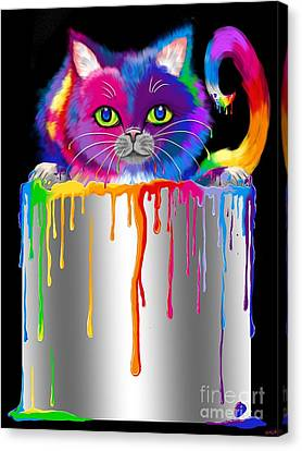 Paint Can Cat Canvas Print