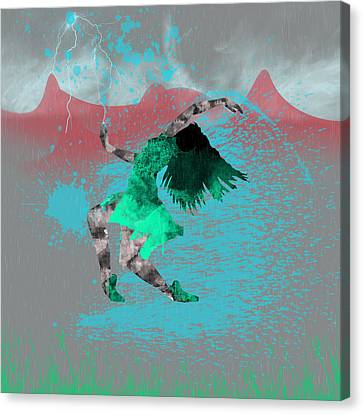 Paint Dance Canvas Print by Becca Buecher
