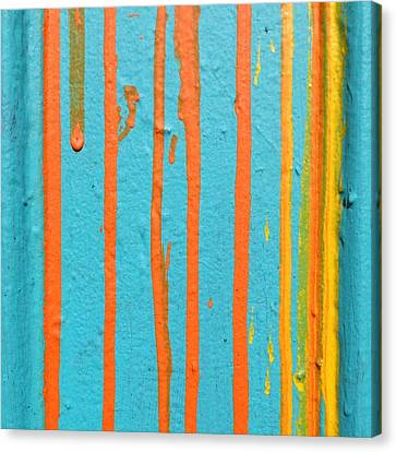 Paint Drips Canvas Print by Julie Gebhardt