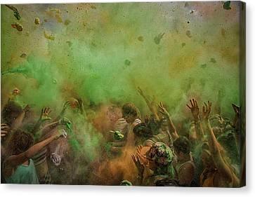 Flour Canvas Print - Paint Fight by