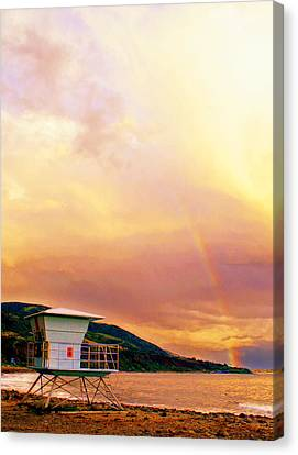 Paint From The Sky Canvas Print by Ron Regalado