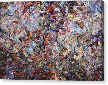 Paint Number 42 Canvas Print by James W Johnson