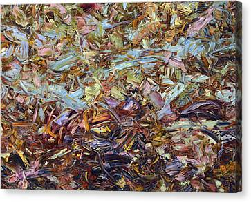 Gesturing Canvas Print - Paint Number 51 by James W Johnson
