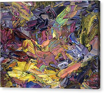 Abstract Expressionism Canvas Print - Paint Number 60 by James W Johnson