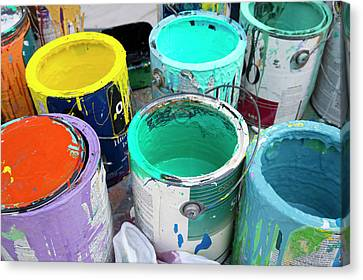 Paint Pots Canvas Print by Jim West